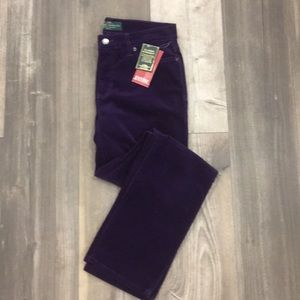 NWT Ralph Lauren Purple Corduroy Pants - Sz 6P